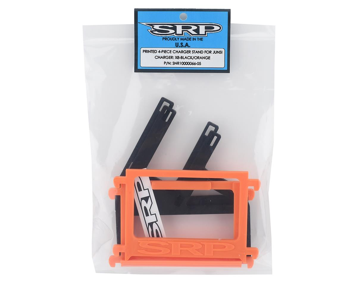 Schaffner Racing Products Junsi X8 Printed 4 Piece Charger Stand (Black/Orange)