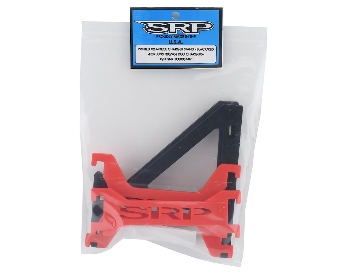 Schaffner Racing Products Junsi 308/406 Duo V2 Charger Stand (Black/Red)