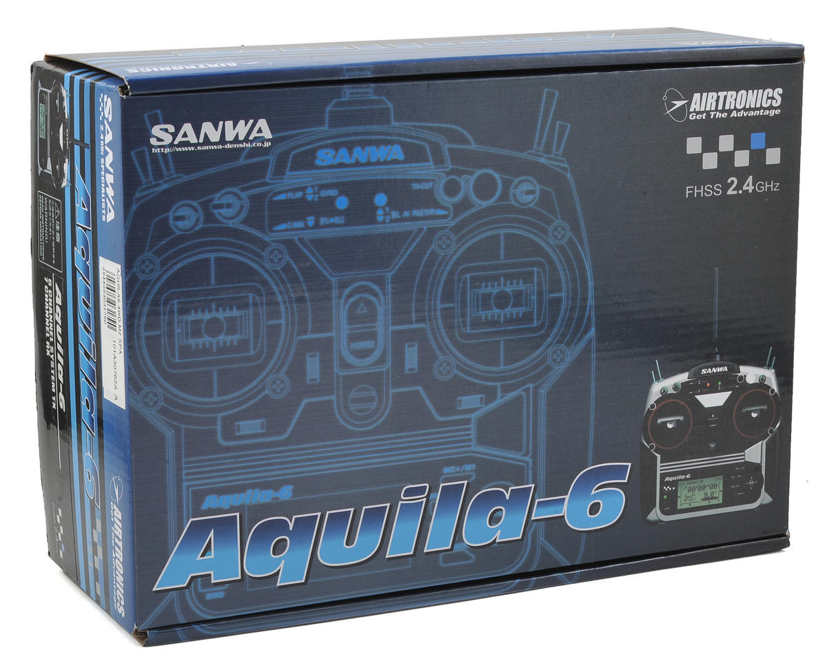 Sanwa/Airtronics Aquila 6 4WD 6-Channel 2.4GHz Surface Radio System