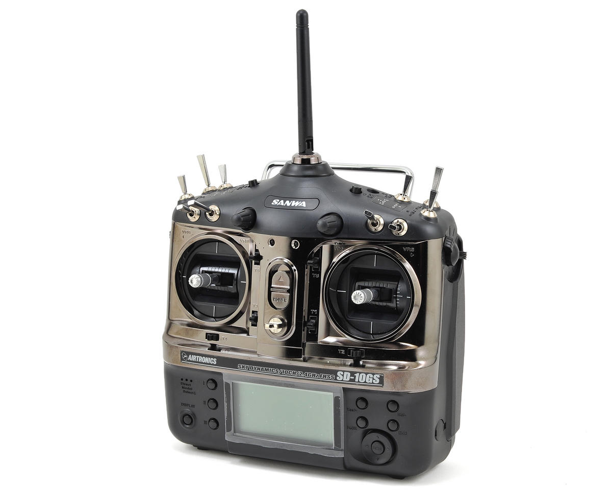 Sanwa/Airtronics SD10GS 10-Channel 2.4GHz FHSS-3 Radio System | relatedproducts