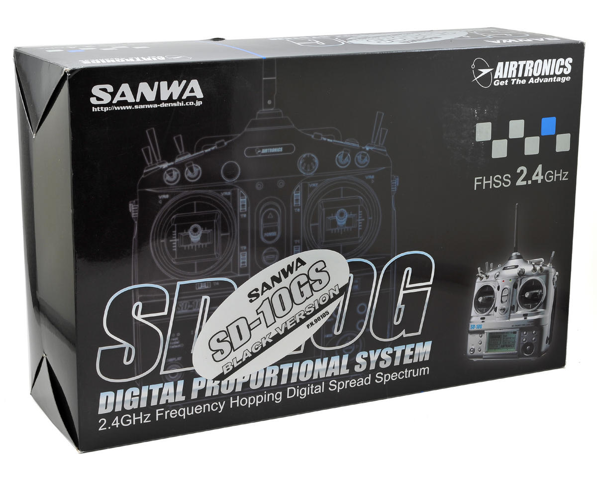 Sanwa/Airtronics SD10GS 10-Channel 2.4GHz FHSS-3 Radio System