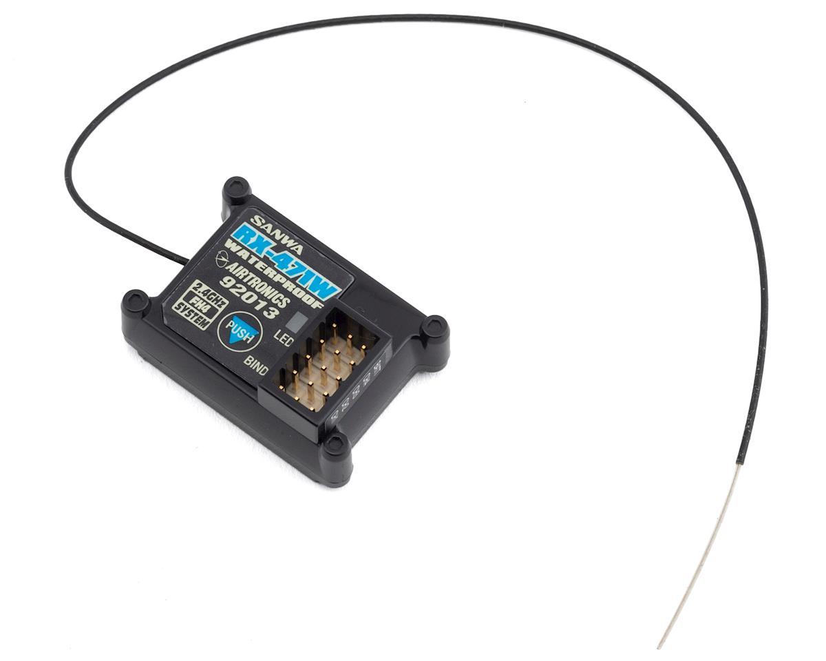 Sanwa/Airtronics RX-471W 2.4Ghz FHSS-4 Waterproof 4-Channel Receiver (M12/MT4)