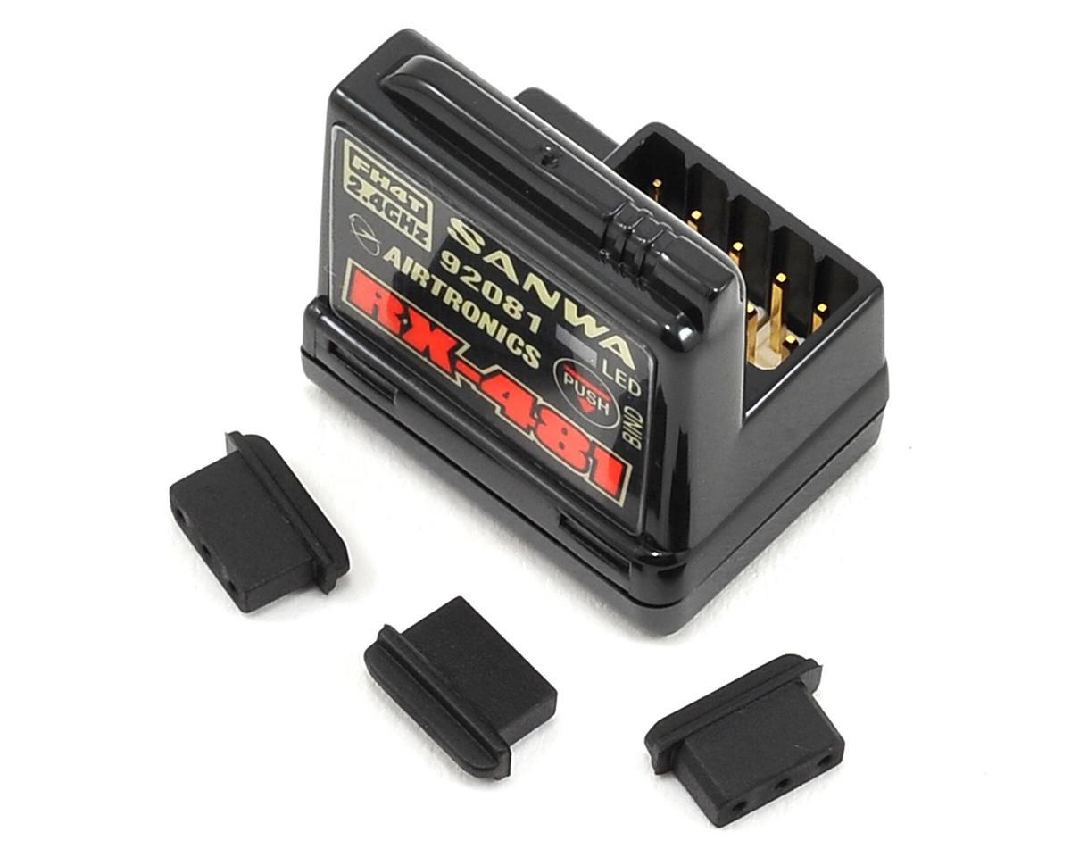 Sanwa/Airtronics RX-481 2.4GHz 4-Channel FHSS-4 Receiver [SNW107A41258A] |  Cars & Trucks - AMain Hobbies