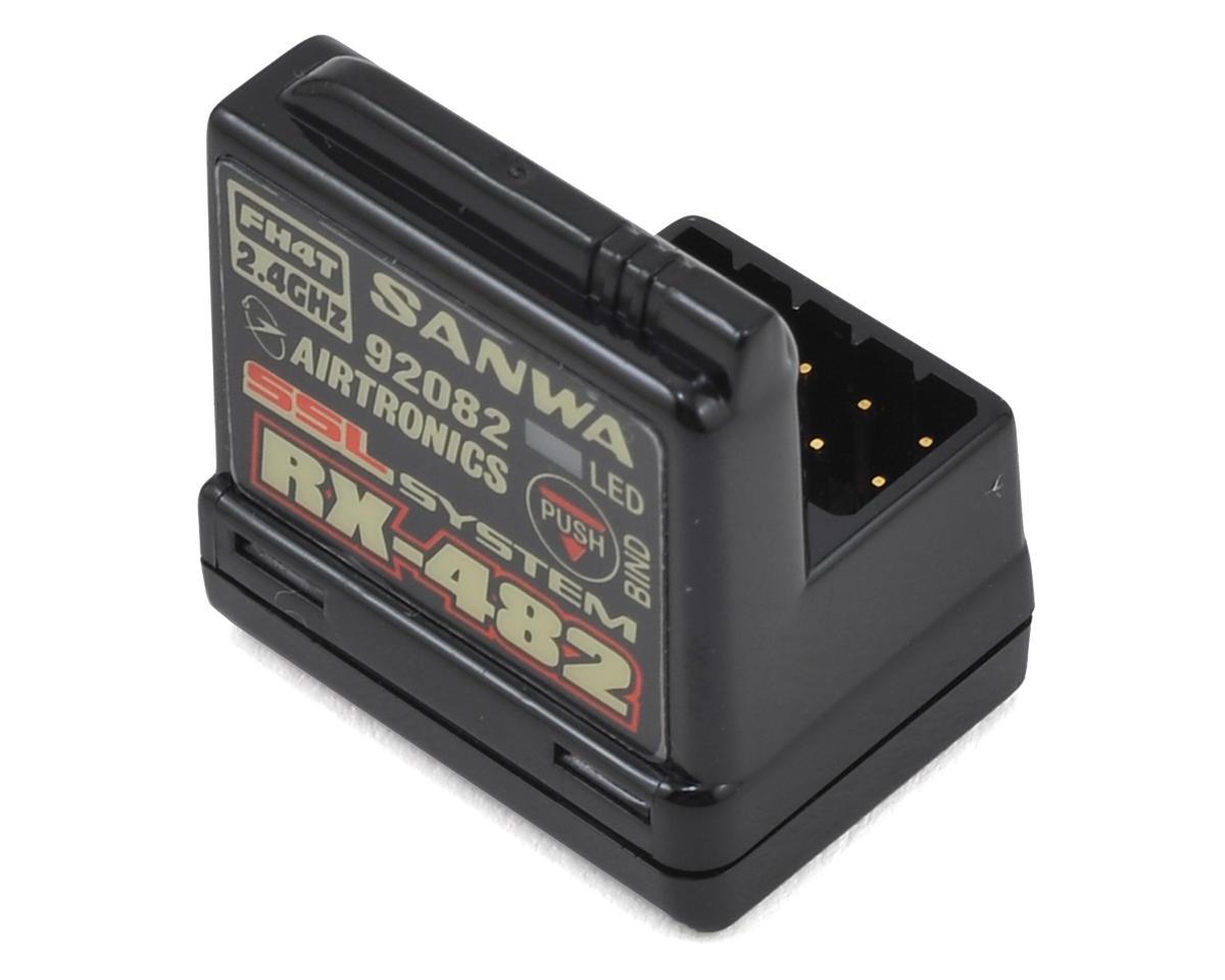Sanwa/Airtronics RX-482 2.4GHz 4-Channel FHSS-4 SSL Telemetry Receiver  [SNW107A41259A] | Cars & Trucks - AMain Hobbies
