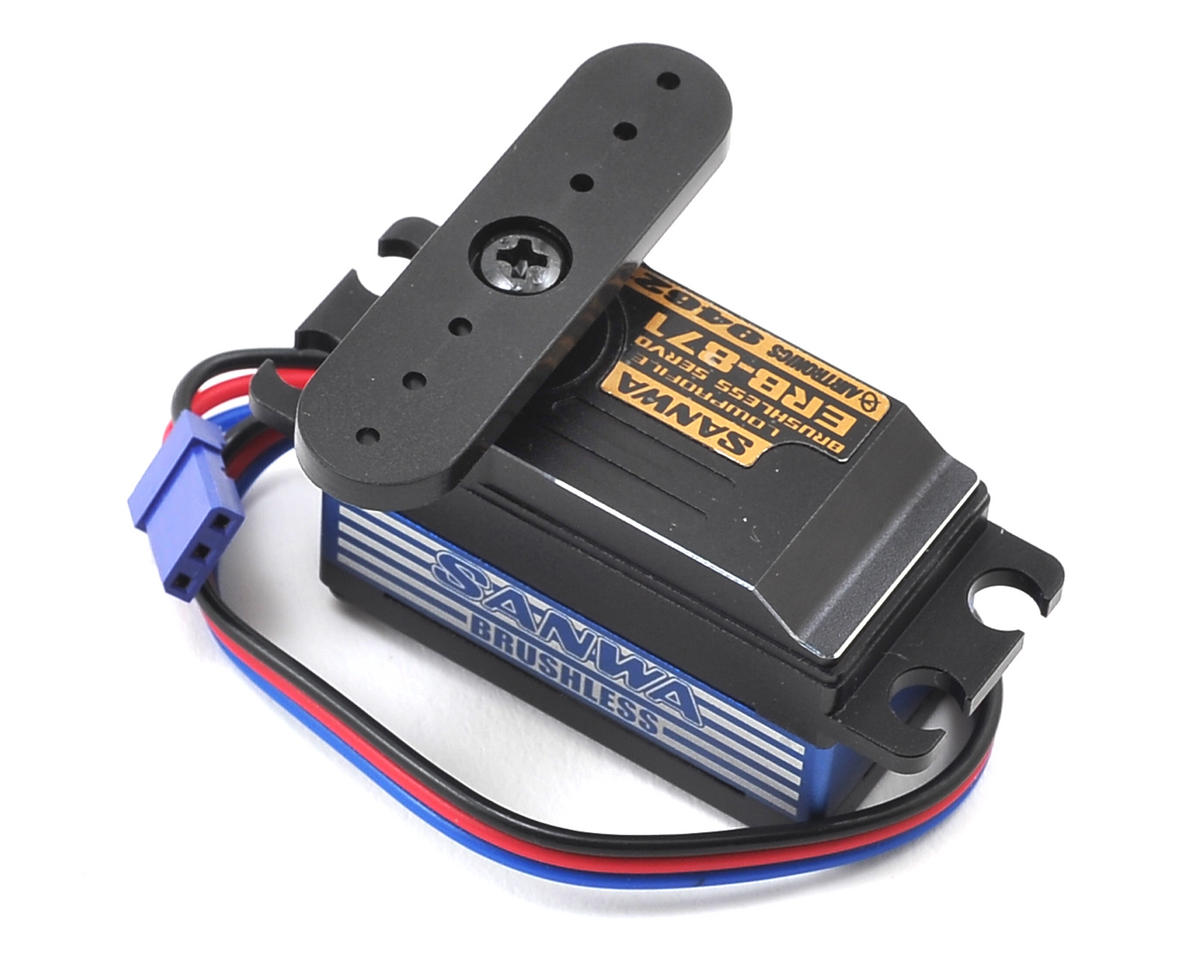 Sanwa/Airtronics ERB-871 Low Profile Aluminum Case Brushless Servo (Waterproof)