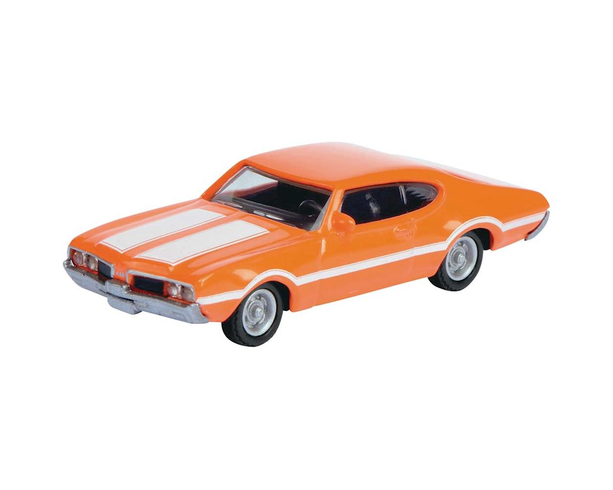 Schuco 2611700 1/87 1969 Olds 442 Coupe Orange w/White Stripes