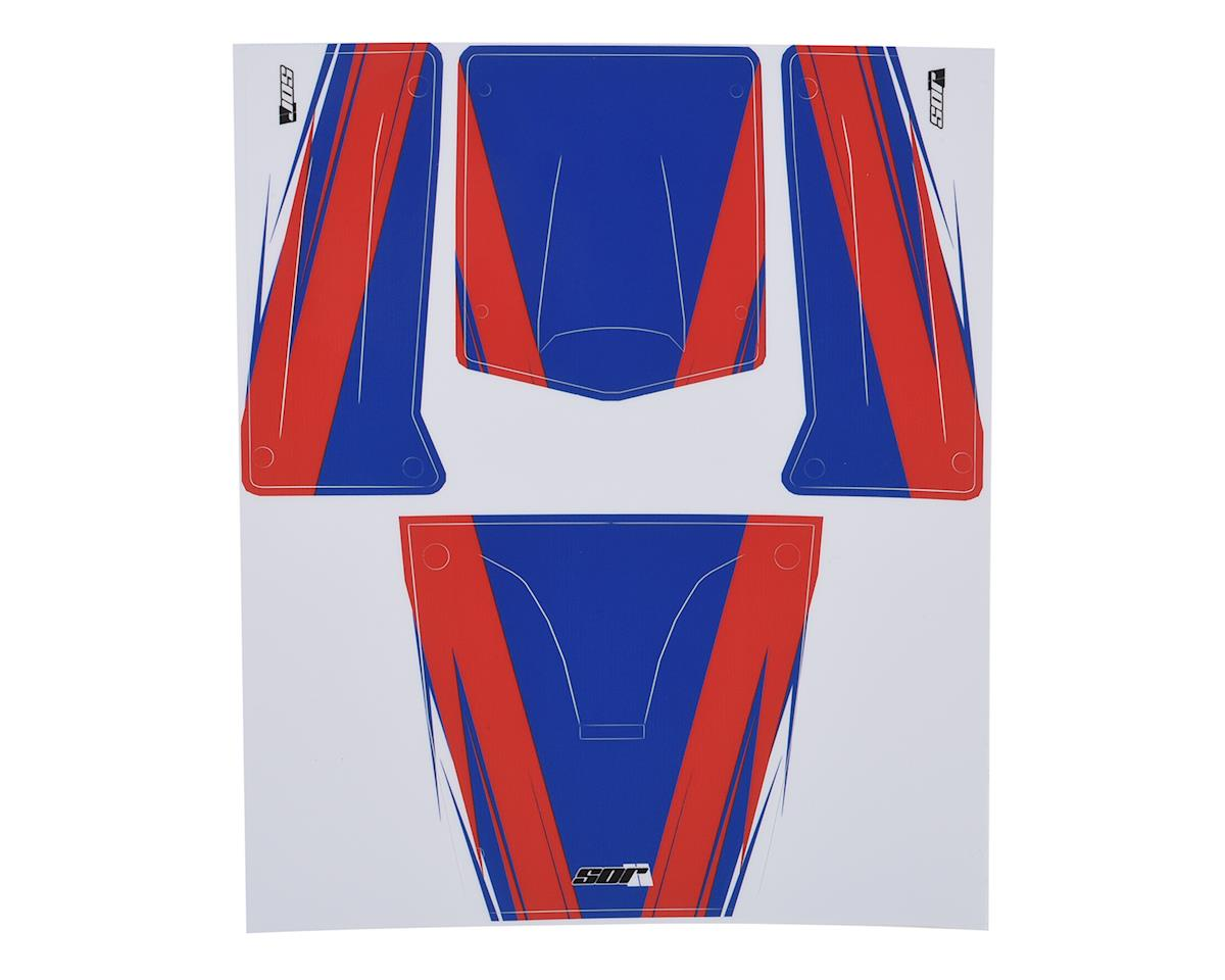 SOR Graphics Undercut Axial Capra Wrap (Red/White/Blue - Gloss)