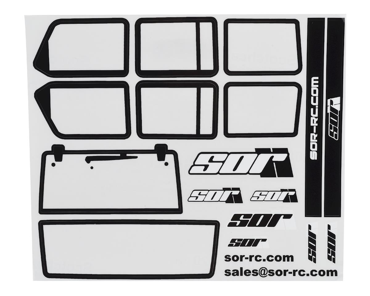 SOR Graphics Axial SCX10 II JKU Window Detail Kit w/Window Mask (Clear)