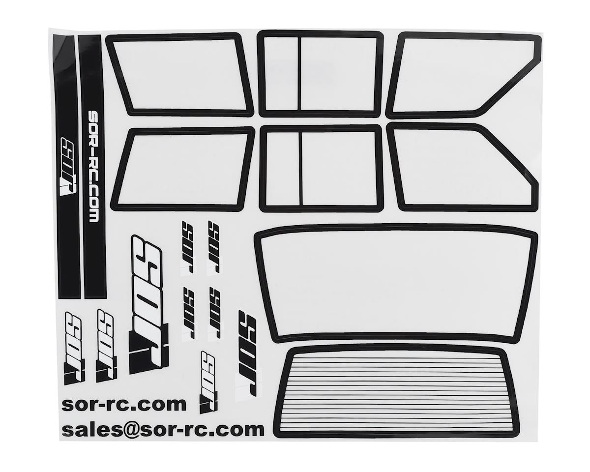SOR Graphics Axial XJ Window Detail Kit w/Window Mask (Clear)