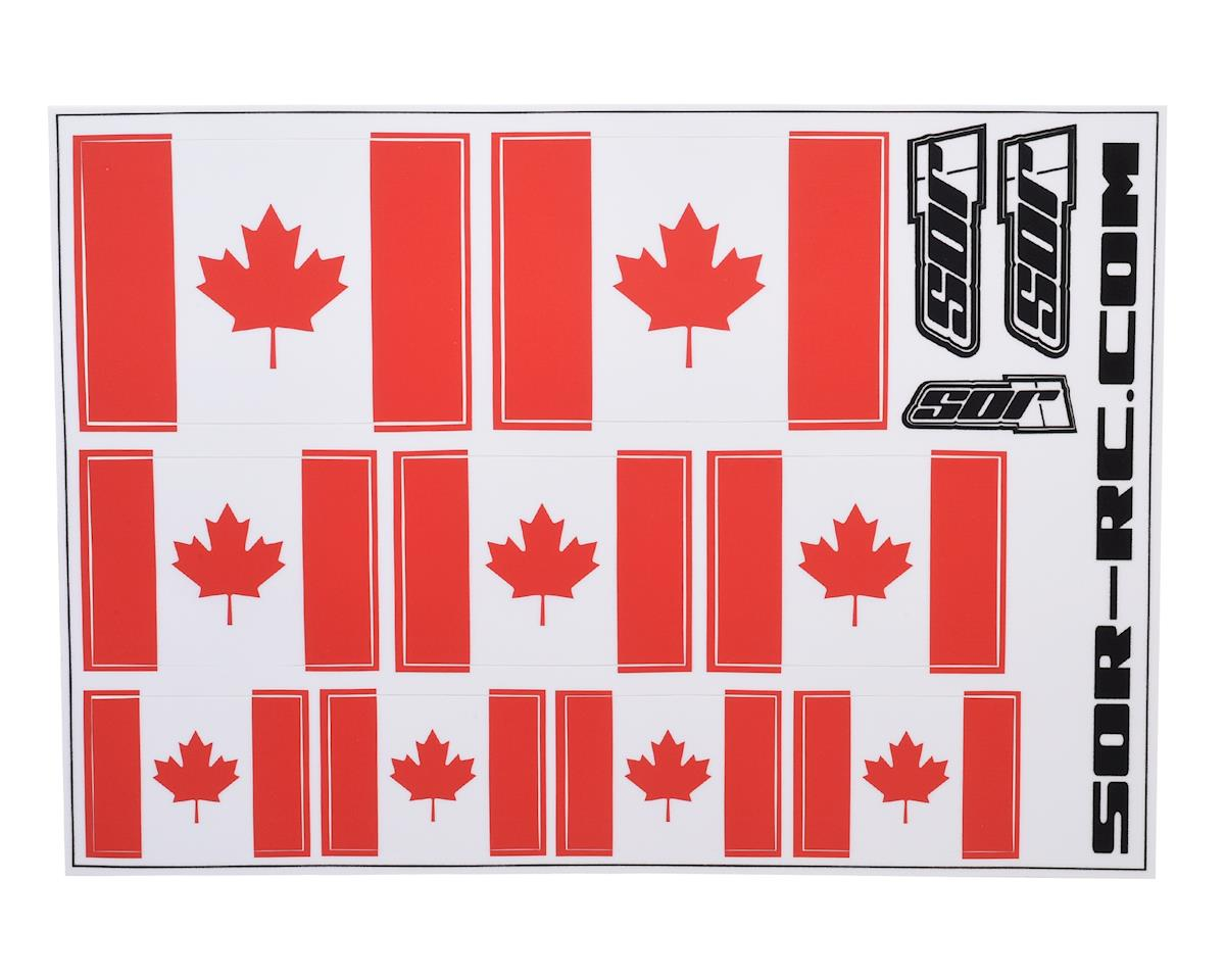 SOR Graphics Universal Canadian Flag Decal Sheet