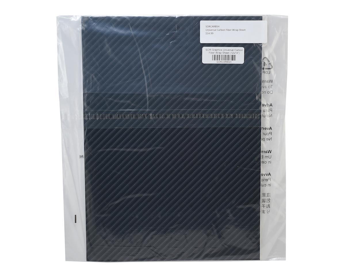 "SOR Graphics Universal Carbon Fiber Wrap Sheet (12x14"")"