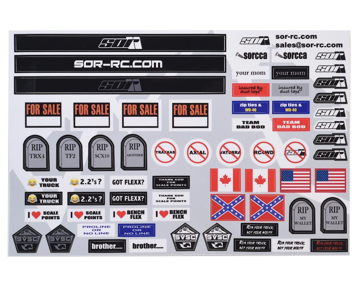 SOR Graphics V1 Scale Decal Sheet (Axial RR10 Bomber)