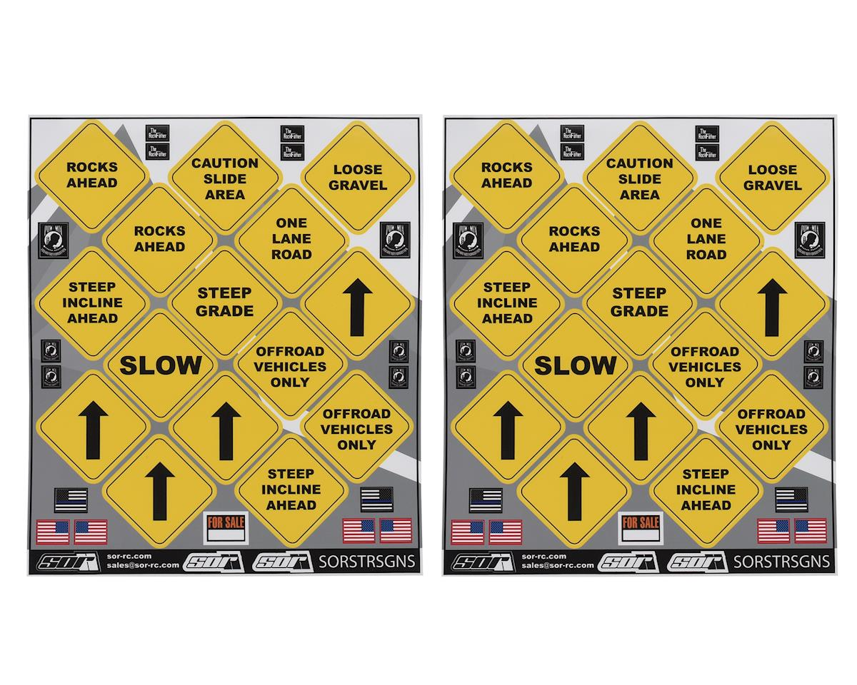 SOR Graphics Scale Street Sign Decal Sheet (2)