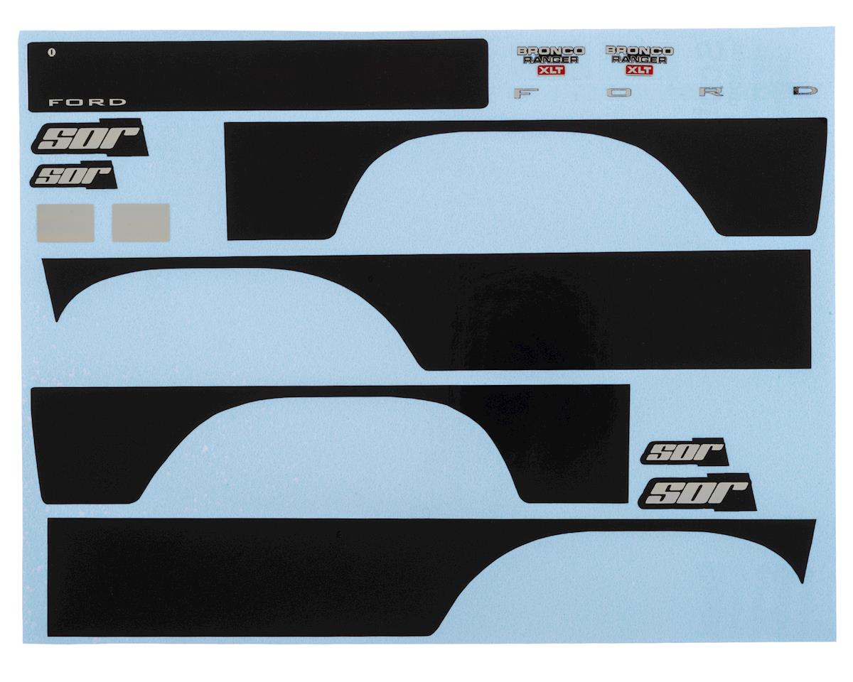 SOR Graphics Traxxas TRX4 Bronco Decal Sheet (Black)