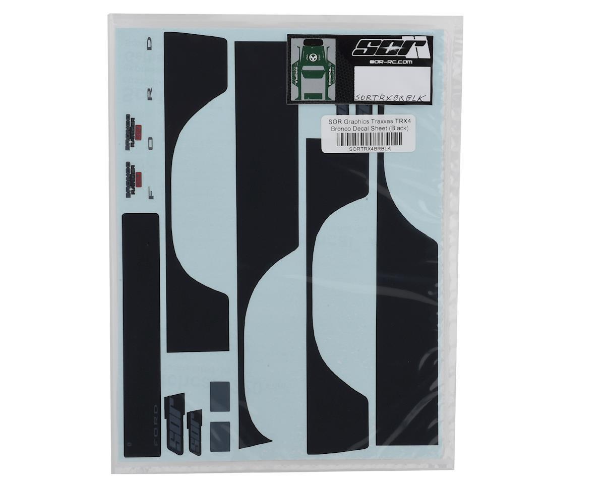 SOR Graphics Traxxas TRX4 Bronco Decal Sheet (Black)