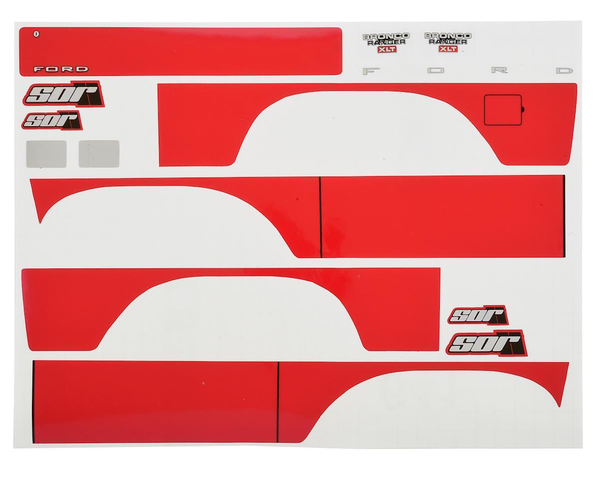 SOR Graphics Traxxas TRX4 Bronco Decal Sheet (Red)