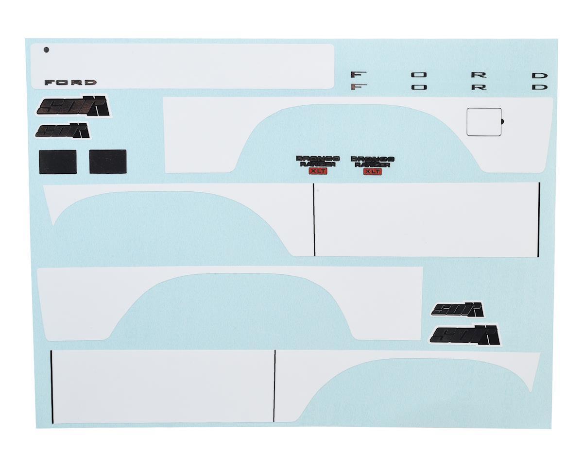SOR Graphics Traxxas TRX4 Bronco Decal Sheet (White)