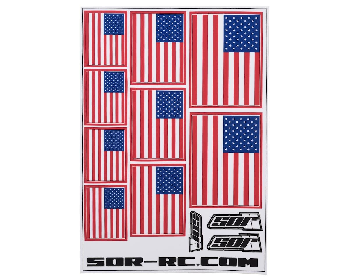 SOR Graphics Universal American Flag Decal Sheet
