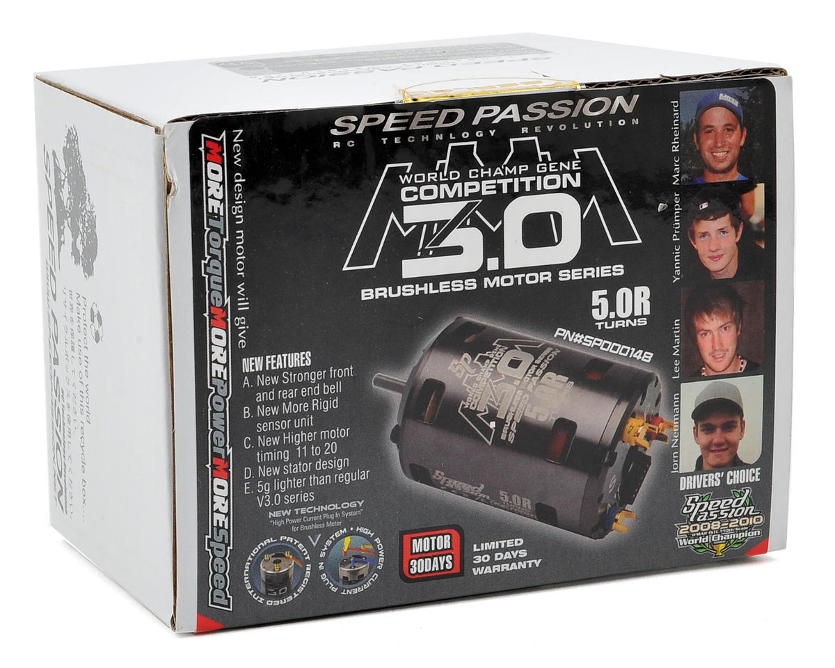 Speed Passion Competition MMM Sensored Brushless Motor (5.0R)