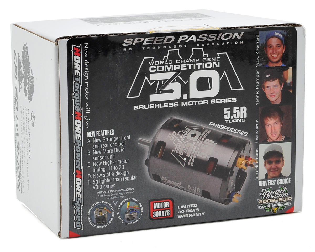 Speed Passion Competition MMM Sensored Brushless Motor (5.5R)