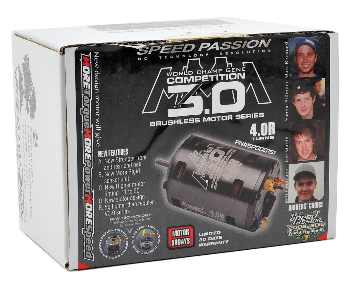Speed Passion Competition MMM Sensored Brushless Motor (4.0R)