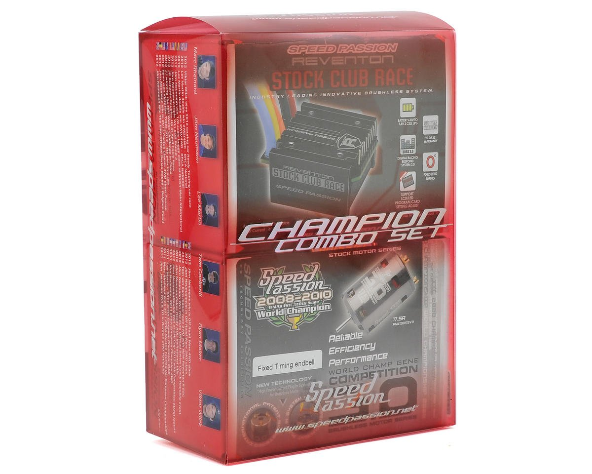 Speed Passion Reventon Stock Club Race ESC/V3.0 Motor Combo (17.5R)