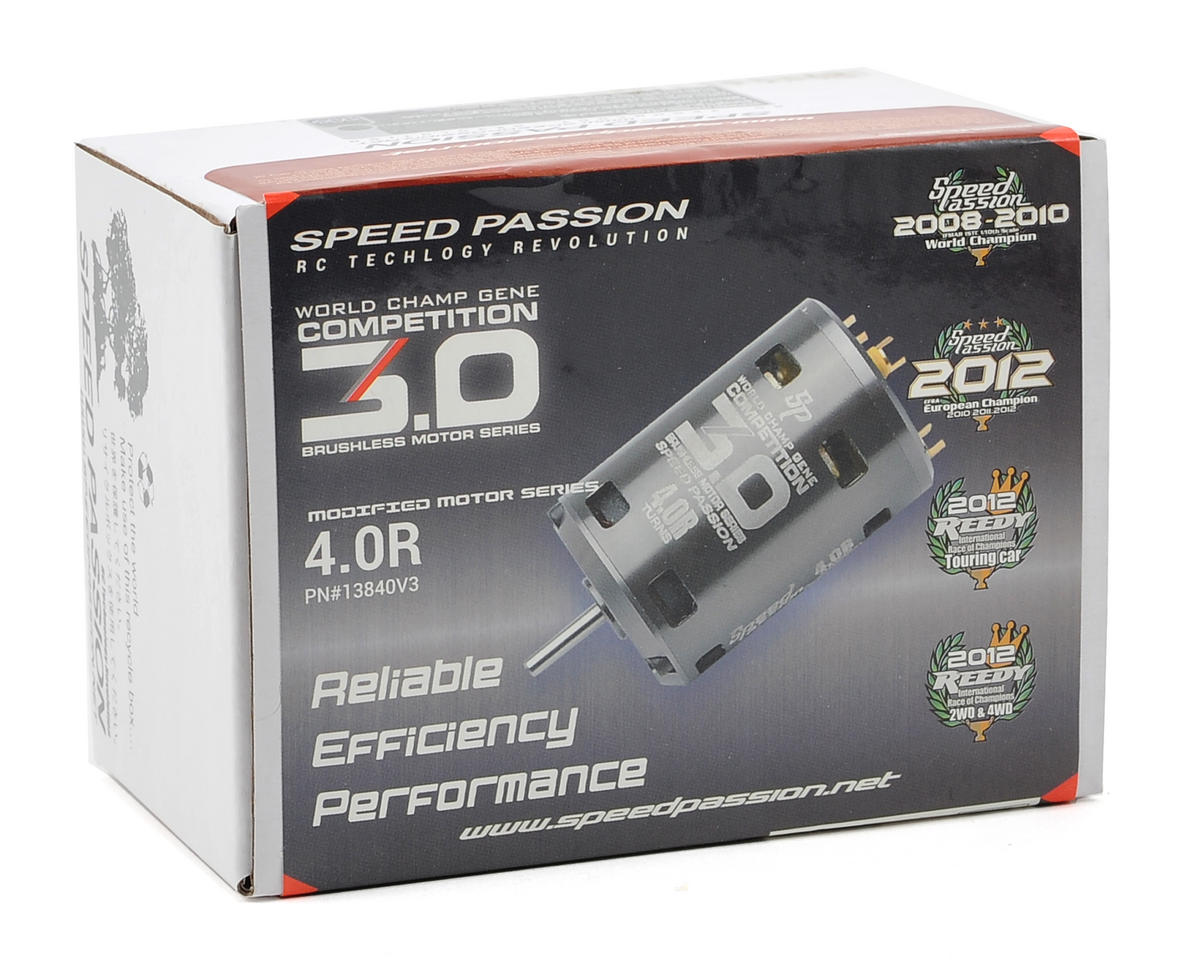 Speed Passion Competition V3 Sensored Brushless Motor (4.0R)