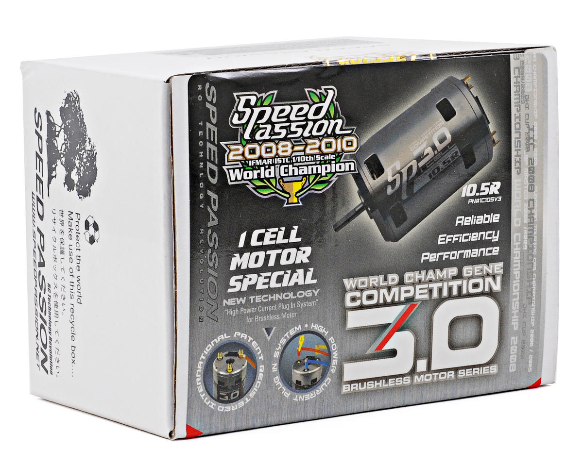 "Speed Passion Competition V3 ""1 Cell"" Sensored Brushless Motor (10.5T)"