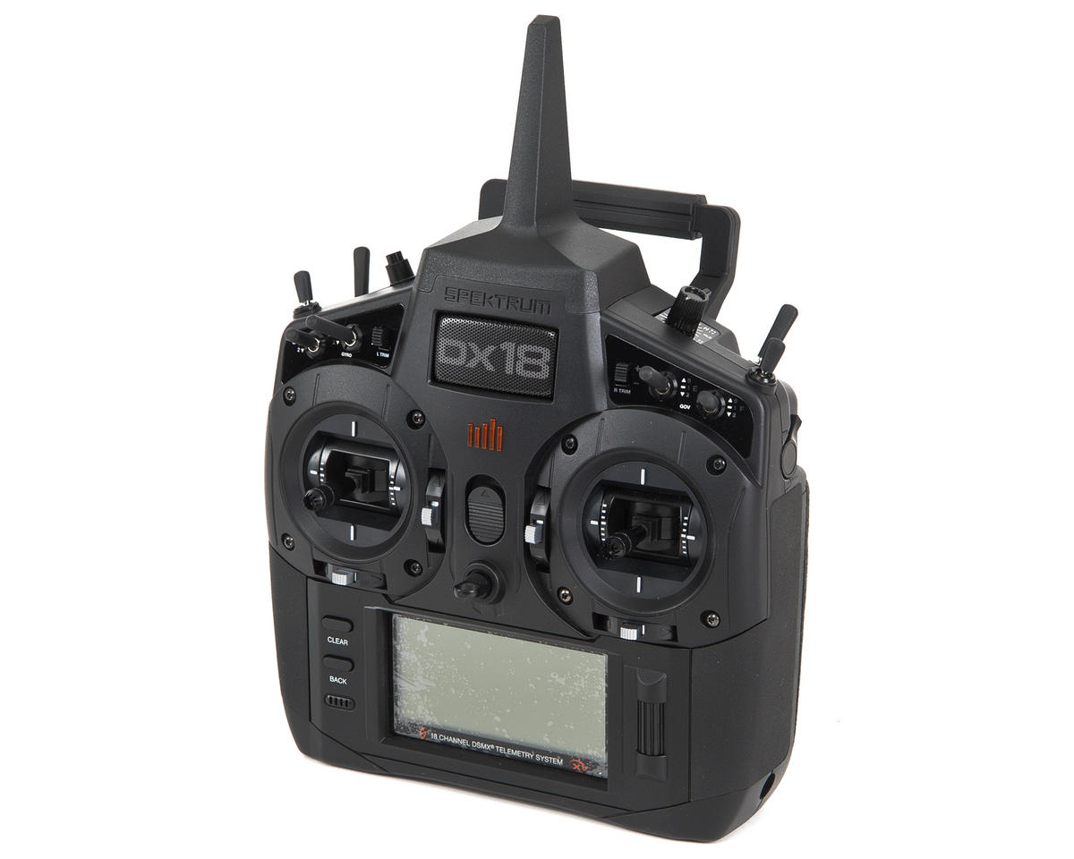 "Spektrum RC DX18 ""Stealth Edition"" DSMX 18-Channel Heli/Plane Radio w/AR9020 & Case (No Servos)"