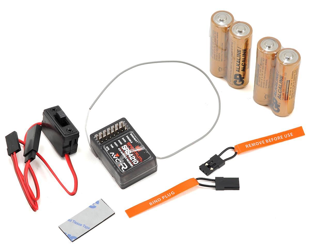Spektrum RC DX4S 4-Channel DSMR Radio System w/SR410 & SRS4210 AVC Receivers