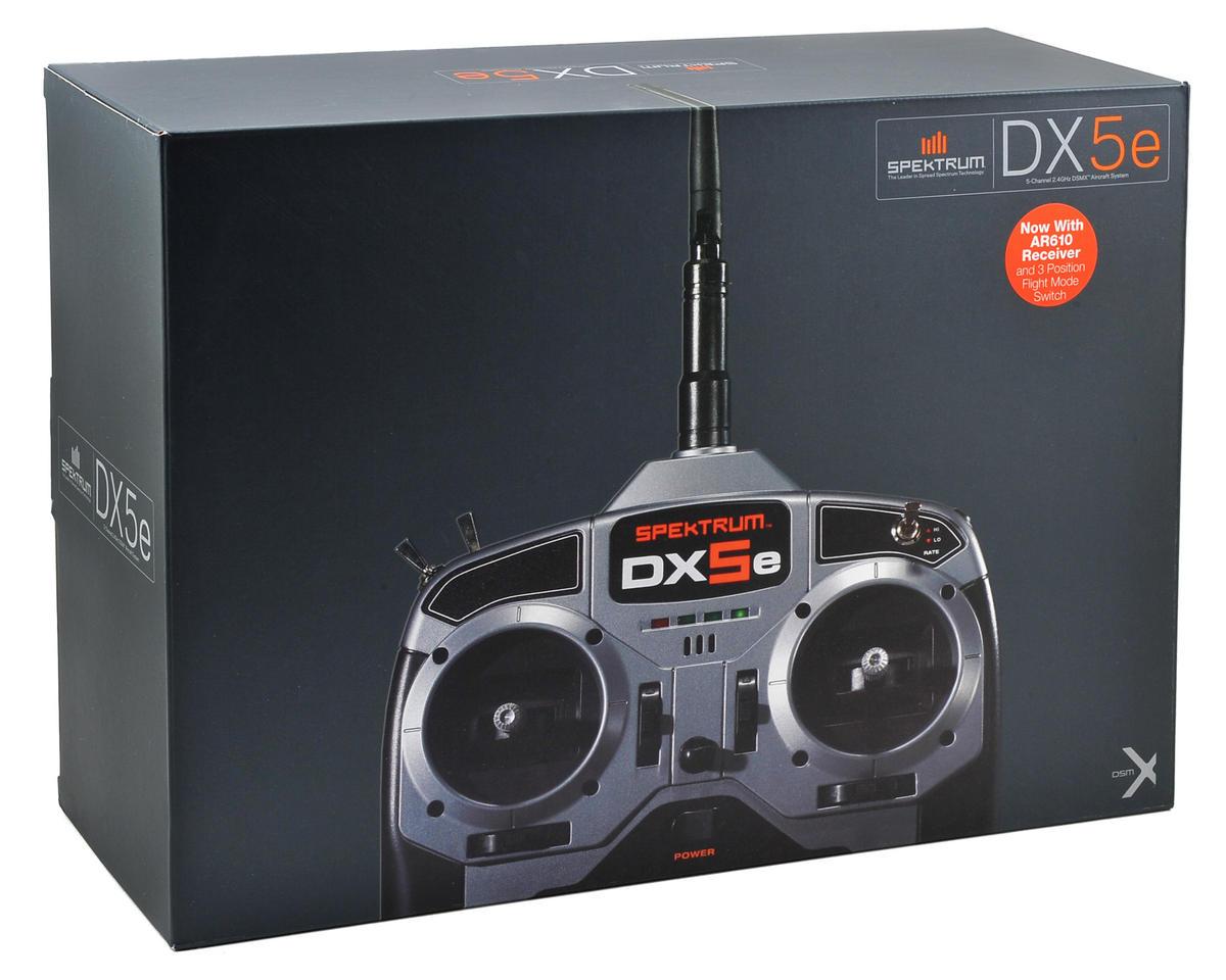 Spektrum RC DX5e 5-Channel Full Range DSMX Radio System w/AR610 Receiver (No Servos)