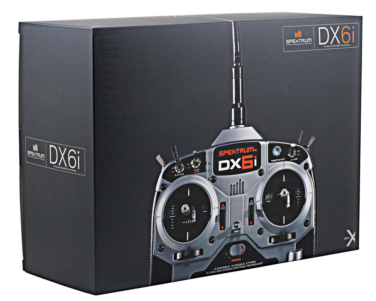 Spektrum RC DX6i 6 Channel Full Range DSMX Radio System w/AR6115e Receiver & 4 DSP75 Servos