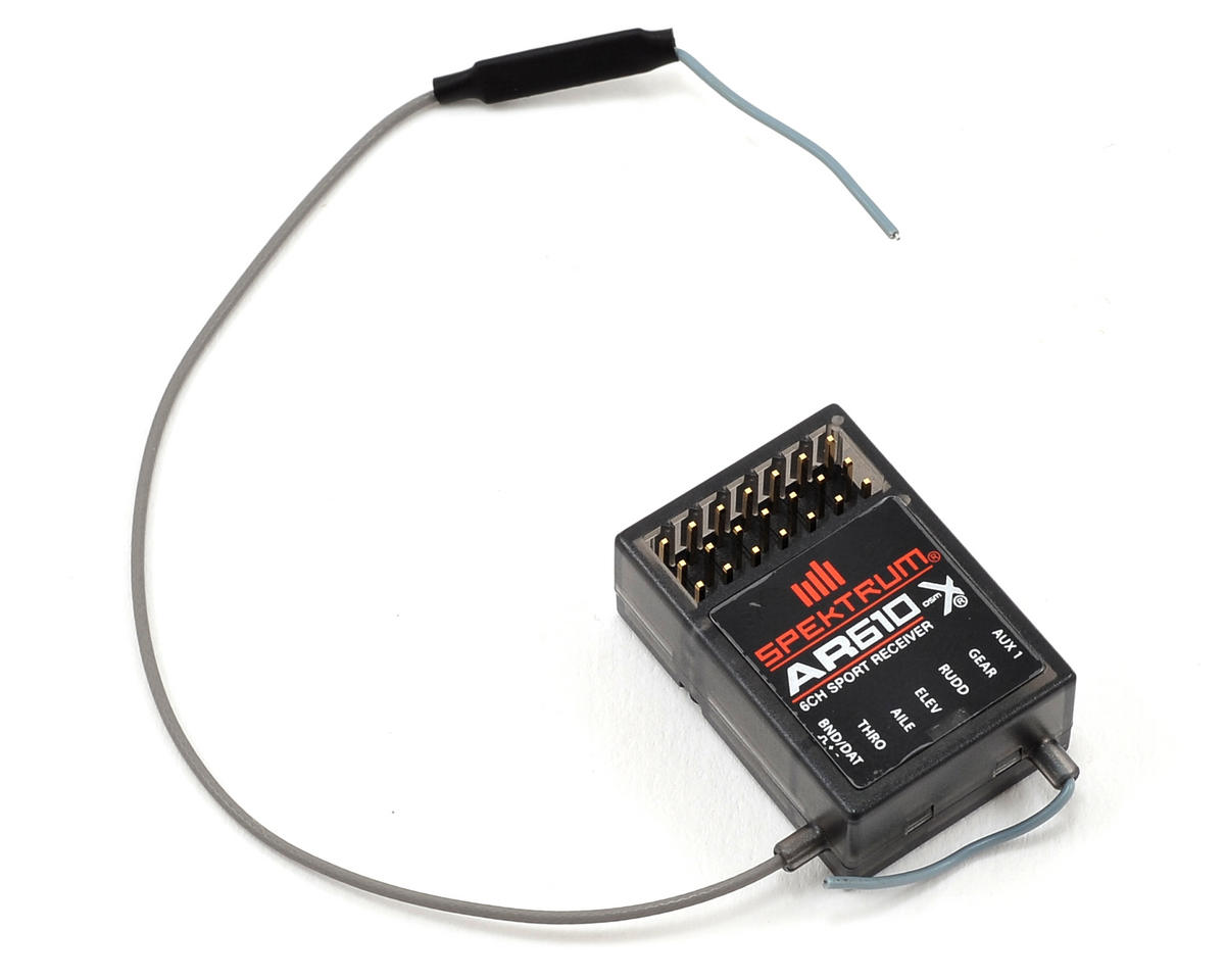 Spektrum RC DX6i 6-Channel DSMX Radio System w/AR610 Receiver (No Servos)