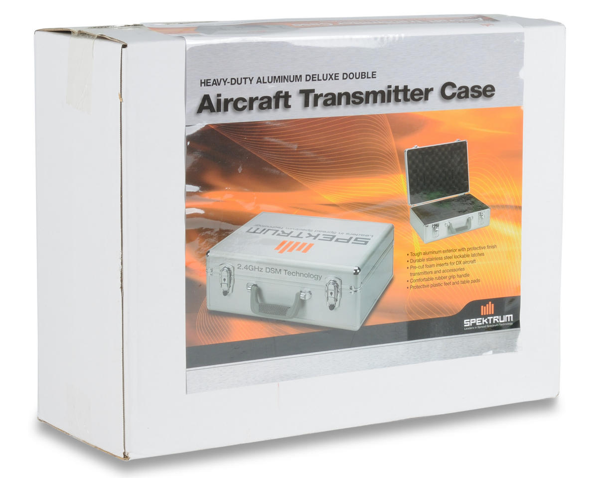 Spektrum RC Deluxe Aircraft Double Transmitter Case