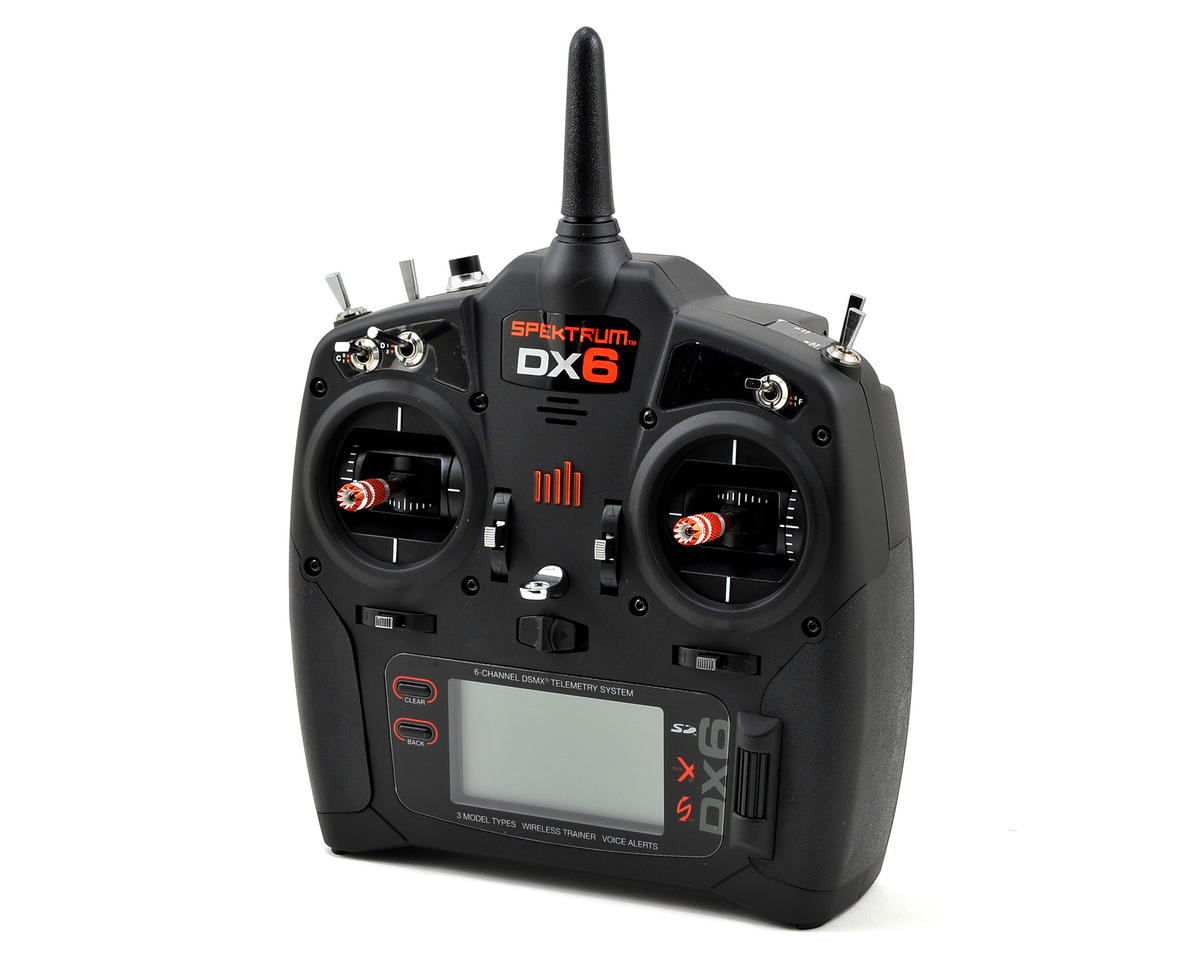 Spektrum RC DX6 2.4GHz DSMX 6 Channel Radio System w/AR610 Receiver (No Servos)