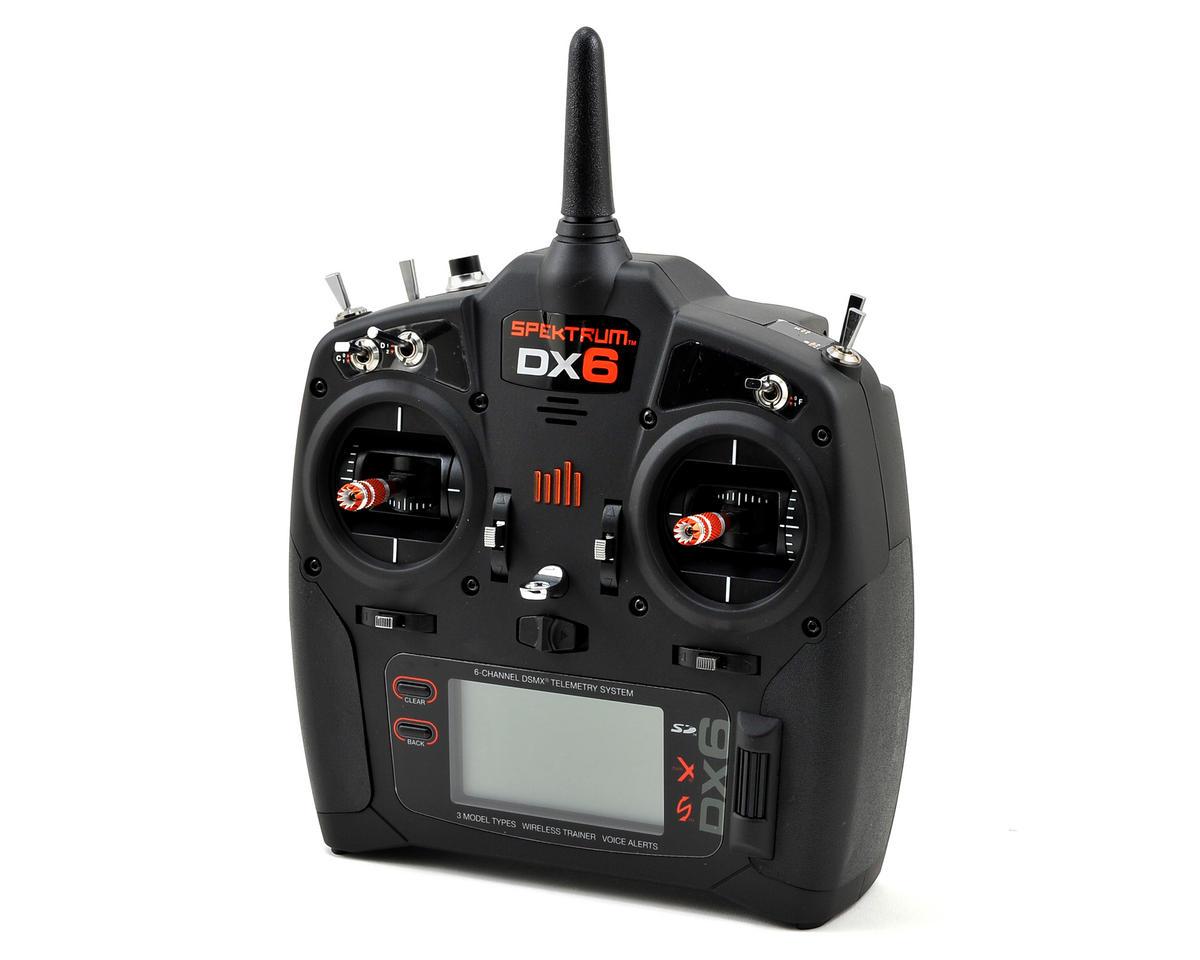 Spektrum RC DX6 2.4GHz DSMX 6 Channel Radio System w/AR610 Receiver (No Servos)