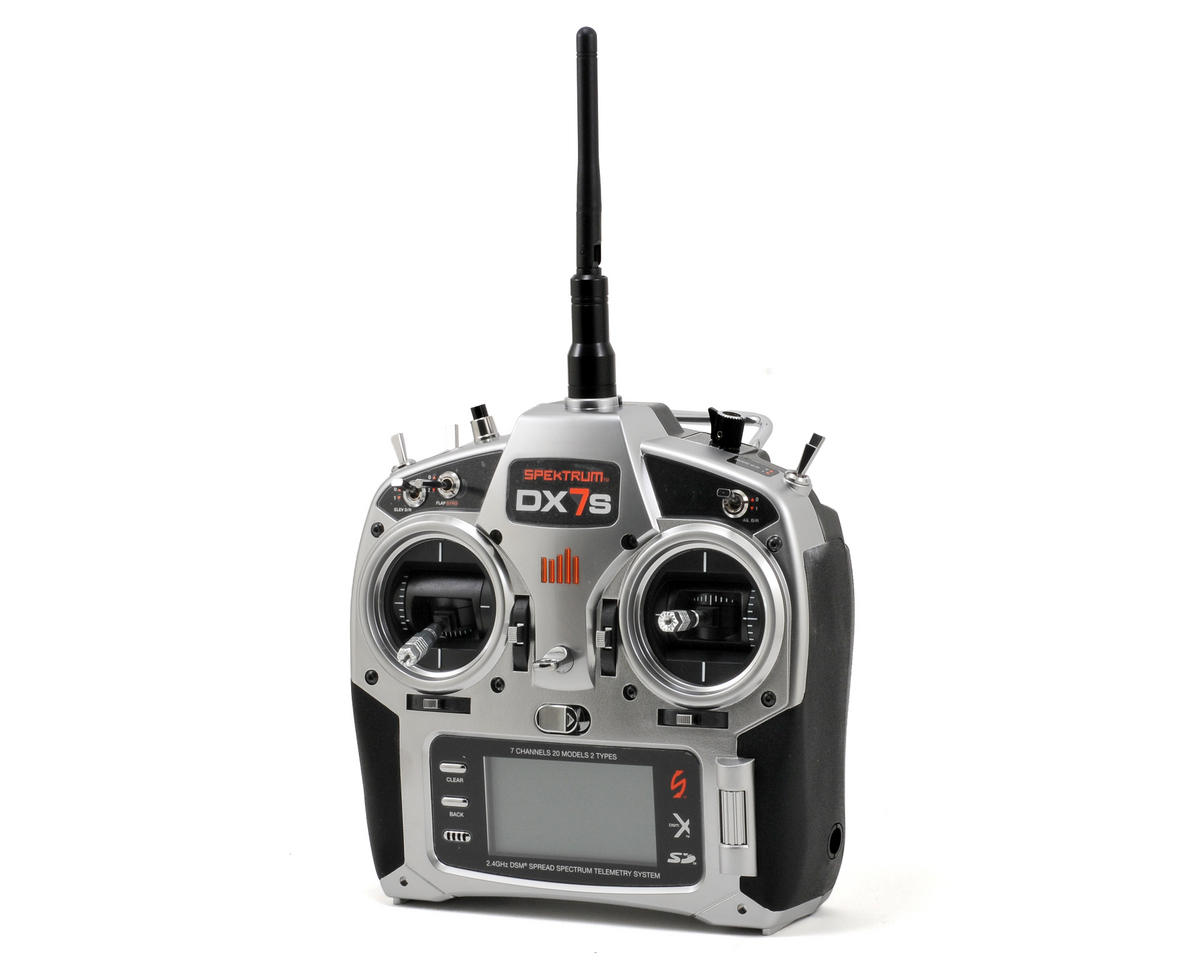 Spektrum RC DX7s 7 Channel 2.4GHz DSM2/DSMX Aircraft Radio w/AR8000 Receiver (No Servos)