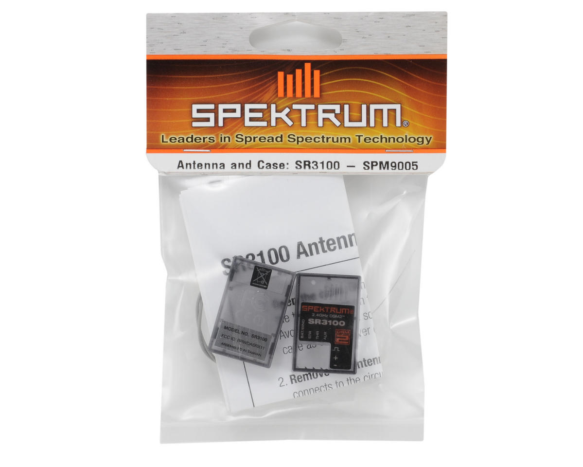 Spektrum RC SR3100 Antenna & Case Set