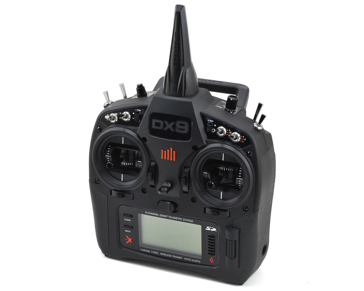 SCRATCH & DENT: Spektrum RC DX9 Black Edition 9-Channel DSMX Radio System
