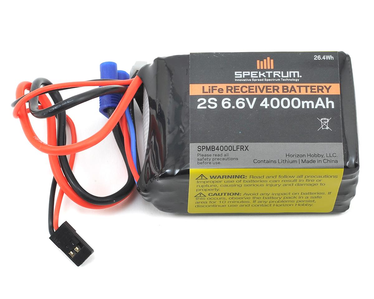 LiFe Receiver Battery Pack (6.6V/4000mAh) by Spektrum RC