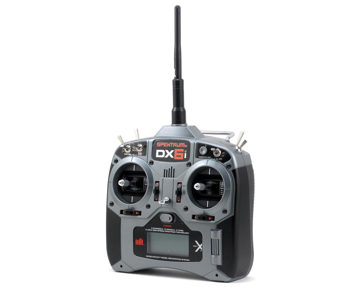 Spektrum RC DX6i 6 Channel Full Range DSMX Transmitter (Transmitter Only)