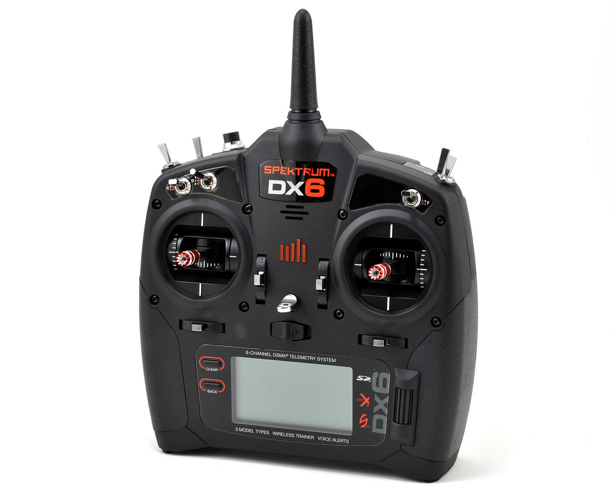 Spektrum RC DX6 6-Channel Full Range DSMX Radio System (Transmitter Only) (Mode 2)