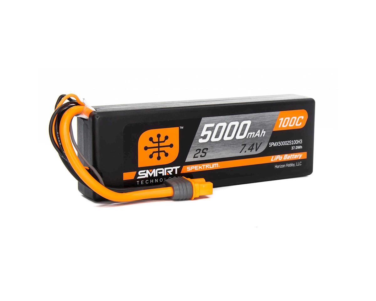 Spektrum RC 2S Smart LiPo Hard Case 100C Battery Pack w/IC5 Connector (7.4V/5000mAh) (Axial SCX10 III)