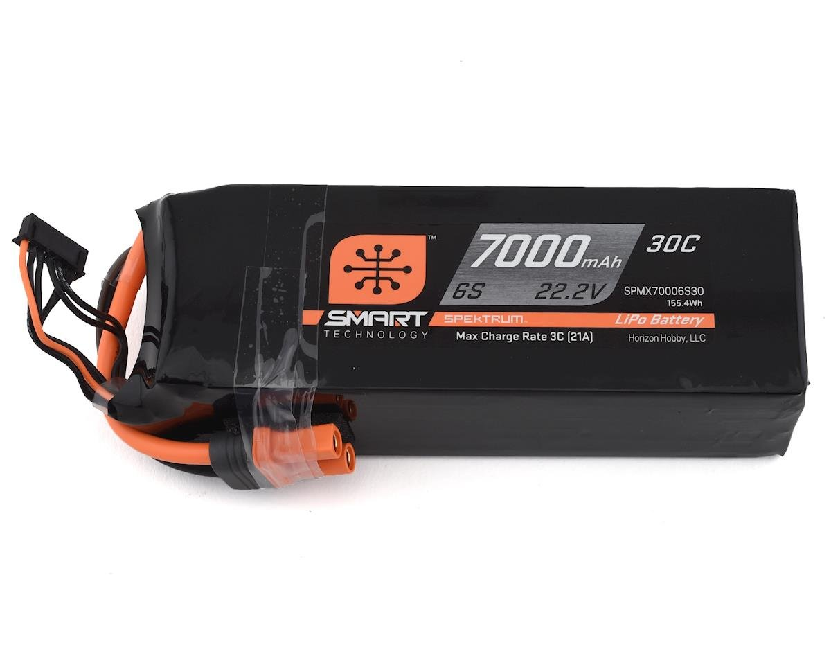 Spektrum RC 6S Smart LiPo Battery Pack w/IC5 Connector (22.2V/7000mAh)