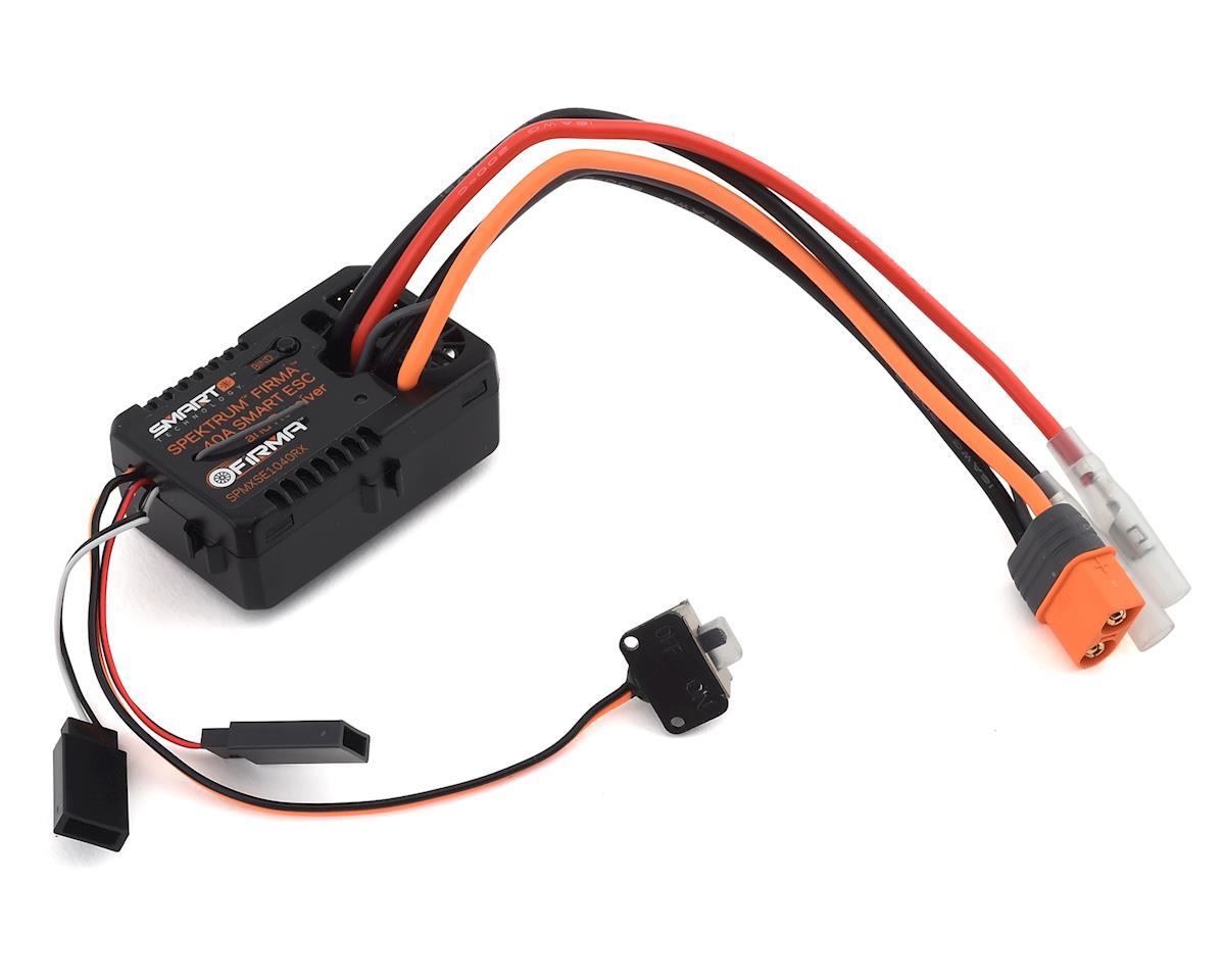 Spektrum RC Firma 40 Amp Brushed Smart 2-in-1 ESC & Receiver SPMXSE1040RX