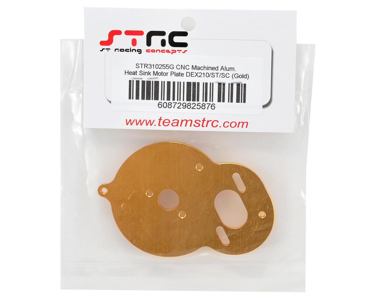 ST Racing Concepts Aluminum Heat Sink Motor Plate (Gold)