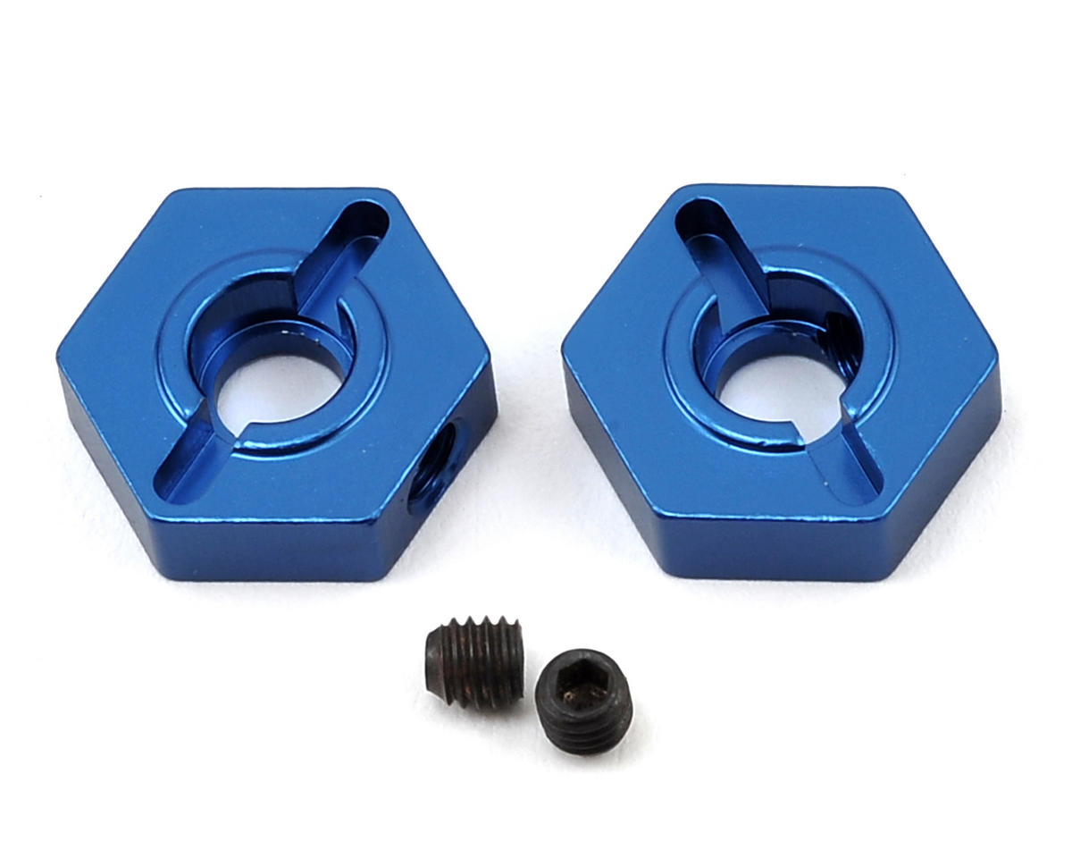 ST Racing Concepts Arrma Aluminum Front Hex Adapters (2) (Blue) (Arrma RC Fury)