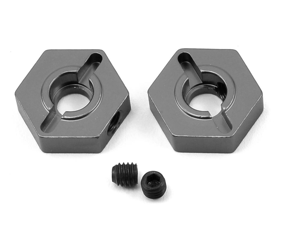 ST Racing Concepts Arrma Fury Aluminum Front Hex Adapters (2) (Gun Metal)