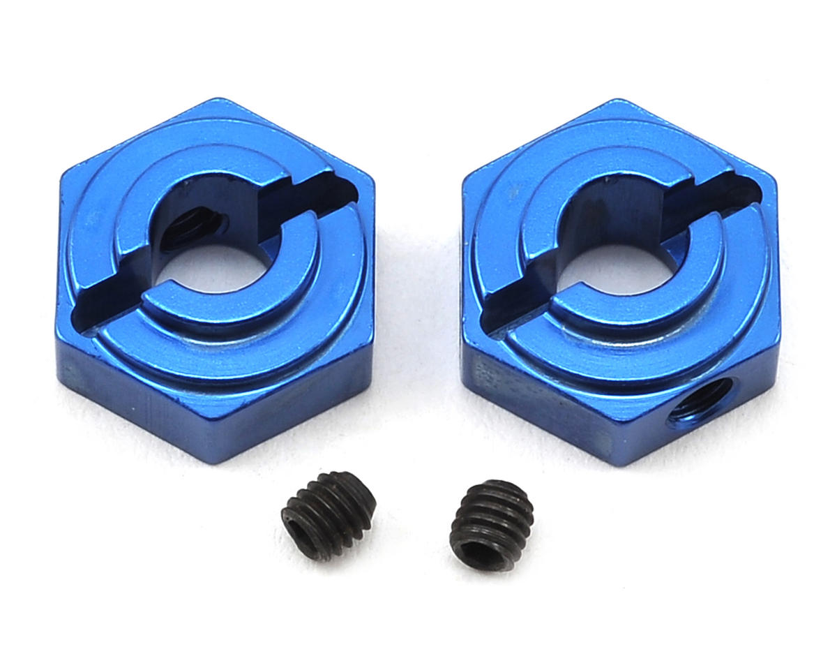 ST Racing Concepts Arrma Aluminum Rear Hex Adapters (2) (Blue) (Arrma RC Vorteks)