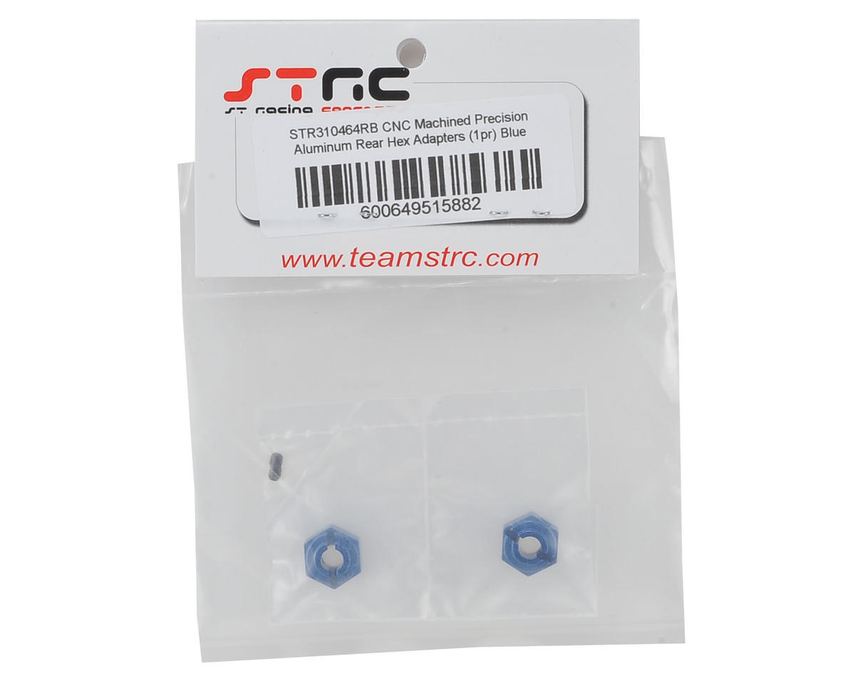 ST Racing Concepts Arrma Aluminum Rear Hex Adapters (2) (Blue)